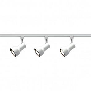 Satco TK320 WHITE R30 STEP CYL TRACK KIT White Finish Medium Base Incandescent R30 - Step Cylinder Track Kit