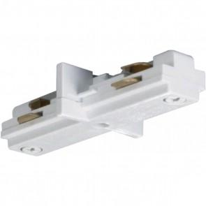 """Satco TP144 WHITE """"I"""" JOINER White Finish Mini Straight Connector"""