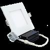 """Goodlite 20071 S5/11W/SQ/LED/50k  5"""" Inch LED Square Slim Downlight 15-Watt, 1100 Lumens, 5000K Super White"""