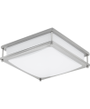 """GreenBeam CLARITY14 LED Clarity Flush Mount 14"""", Square, 150-Watt Equivalent, Dimmable, 3000K Warm White"""