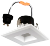 "Goodlite 20121 R3.5/9W/SQ/LED/30k LED 3"" Square Retrofit, Option of GU10 Base Adapter, Dimmble, 3000K Warm White"