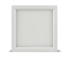 "Luxrite 23609 LED10/SLIM4/30K/W/SQ 10W Dimmable 4"" Square Slim Panel SOFT WHITE 3000K"