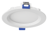 "Luxrite 23702 LED/MINI4/PANEL/50K/RD 10W Dimmable 4"" Mini Round Panel BRIGHT WHITE 5000K"